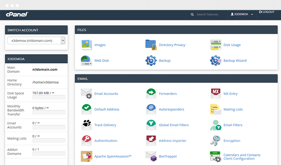 cPanel Hosting Control Panel