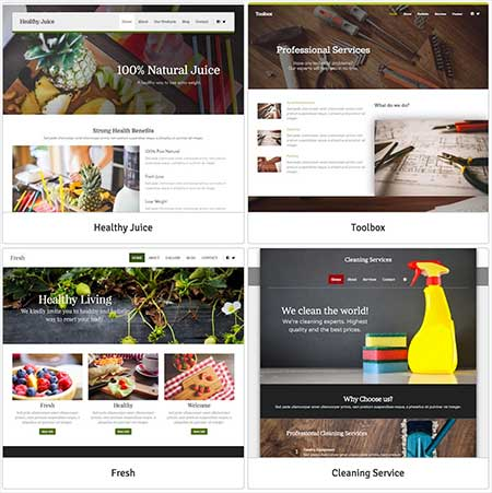 website builder themes