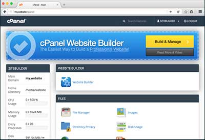 cPanel Website Builder